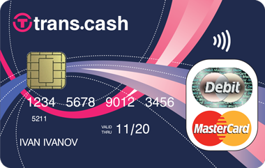 trans.cash debit Mastercard