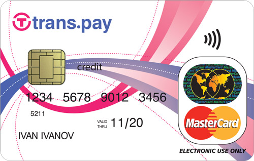 безконтактна платежна карта trans.pay Mastercard